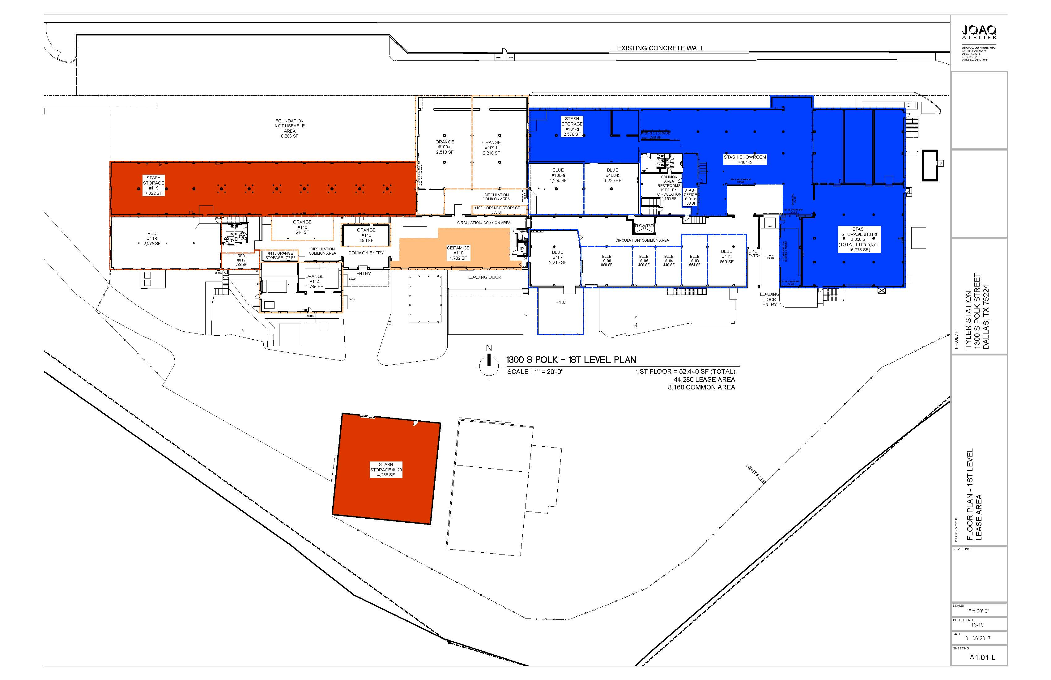 Tyler Station Floor Plans - 1st Floor