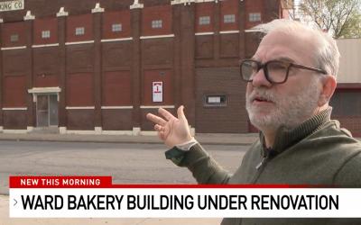 Ward Bakery Building Under Renovation